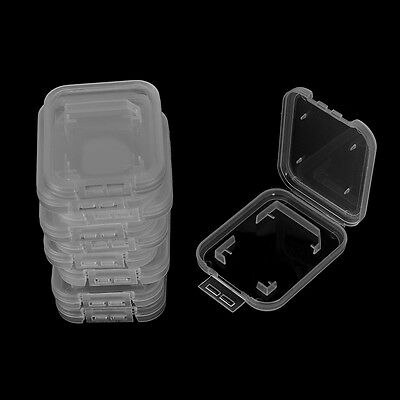 10X Transparent Standards SD SDHC Memory Card Cases Holder Box Storage