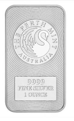 Australian Kangaroo 1oz .9999 Silver Perth Mint Bullion Bar