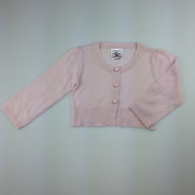 Girls size 0, Charlie & Me, pink lightweight knit cardigan, EUC