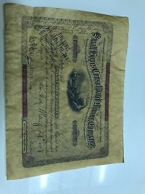Small Hopes Consolidated Mining Company Shares From 1897
