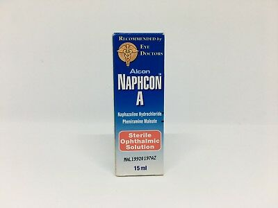 Naphcon A Eye Drops Sterile Ophthalmic Solution Allergy Redness Eye Relief 15ml