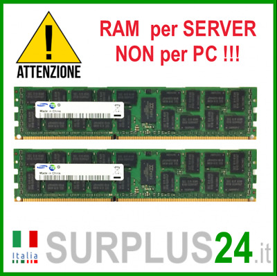 Kit RAM 16GB (2x 8GB) SAMSUNG 2Rx4 PC3-10600R DDR3 1333MHZ ECC REG SERVER