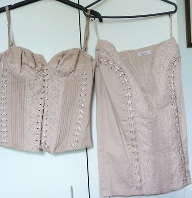 Trendy Burlesque Set Top And Shirt Beige Lace Today's Woman Brand