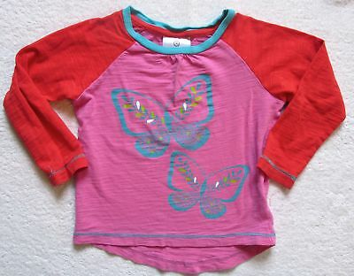 Girls Toddler Hanna Andersson butterfly cotton long sleeve shirt top 90 cm 3 3T