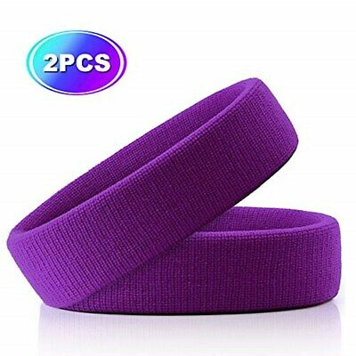 HOTER Sportline Head Band, Terry Cloth Headband, Sweat Band (2Pcs/3Pcs Pack)