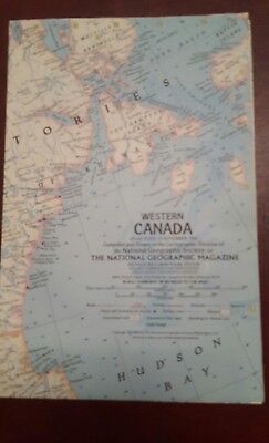 National Geographic Mag -supplement map - western canada   - free post