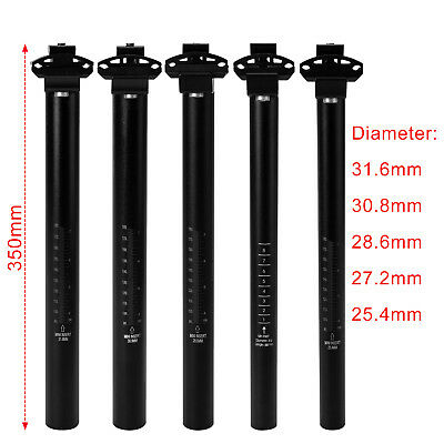 350mm/450mm MTB Road Bike Cycling Bicycle Saddle Seat Post Seatpost Adjustable
