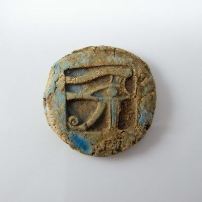 WEDJAT EYE OF HORUS ANCIENT PROTECTION AMULET Magical Faience Udjat Egyptian