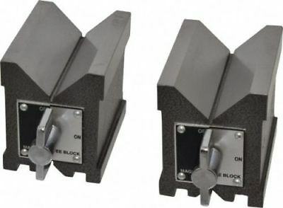 Precision Magnetic Vee Blocks Size 150 x 95 x 75mm V Block Matched Pair Heavy