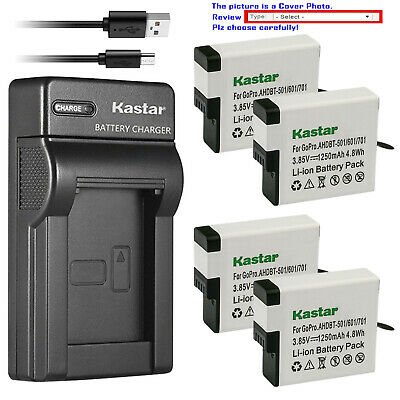 Kastar Battery Slim USB Charger for GoPro AHDBT-501 & Gopro Hero 5 Action Camera