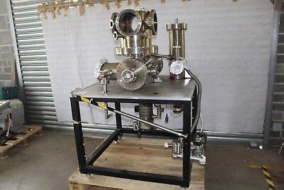 Ultra-High Vacuum System, Stainless Steel, Edward EO4 And EO2 Diffusion Pumps