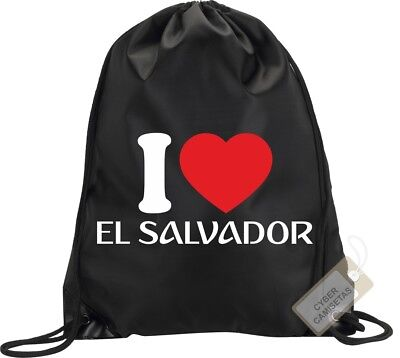 I Love El Salvador Mochila Bolsa Gimnasio Saco Backpack Bag Gym El Salvador