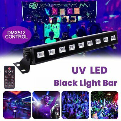12LED UV Stage Lighting Black Light Wall Wash DJ Disco Lamp DMX Bar Party+Remote