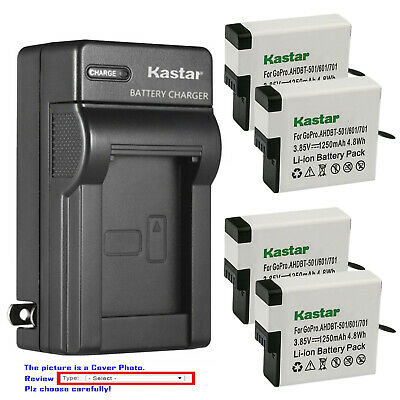 Kastar Battery AC Wall Charger for GoPro AHDBT-701 Gopro7 GoPro Hero 7 HD Black