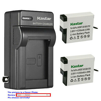 Kastar Battery AC Wall Charger for GoPro AHDBT-501 Hero 5 & GoPro HERO5 Black