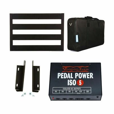 Pedaltrain Classic Junior Pedalboard + Voodoo Lab Mount Kit, Pedal Power ISO-5
