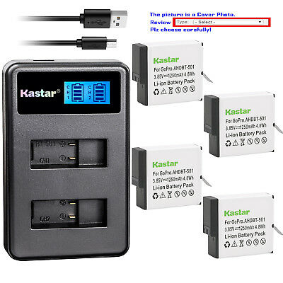 Kastar Battery Slim USB Charger for GoPro AHDBT-701 Hero 7 & GoPro HERO7 Black