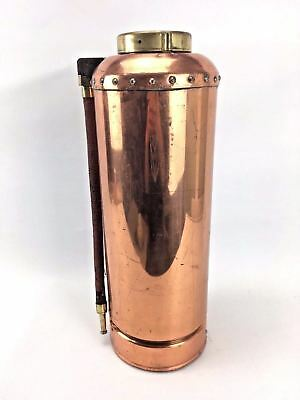 VINTAGE SIMPLEX FIRE EXTINGUISHER BRASS & COPPER WORMALD BROTHER'S Fireman Force