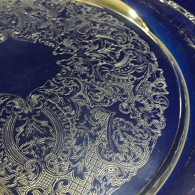 Vintage Silver Plate Art Deco Service Tray Round Plate ONEIDA USA Charger