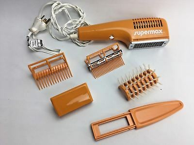 Vintage GILETTE SUPERMAX 700w ORANGE Hairdryer Retro Tested Working Complete