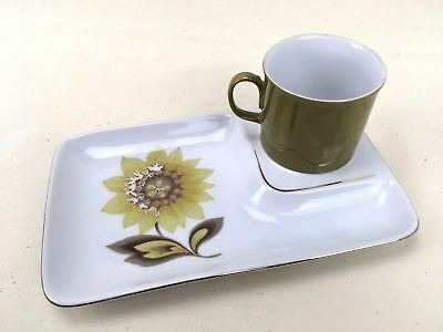 Tennis Set Duo SAUCER & PLATE Taiwan Floral Sunflower Breakfast Tea