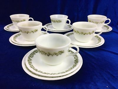 18 Piece Trio Corelle By Corning Crazy Daisy Spring Blossom Pyrex USA Retro