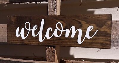 12 Handmade Rustic Wood Sign Welcome Sign Home Decor Porch