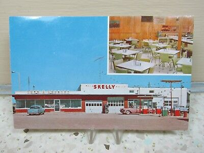 Skelly Truck Stop Bowman North Dakota Vintage Advertising Postcard