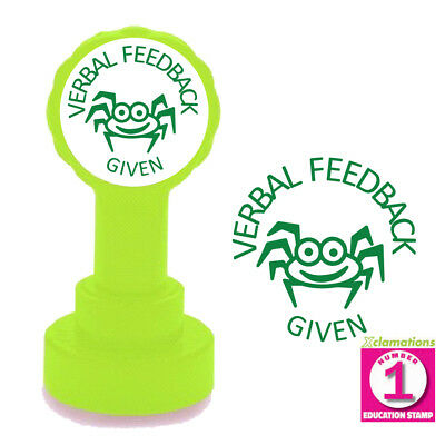 Verbal Feedback Given (Spider) Teacher Stamp. 22mm Self-inking, Reinkable Xclama
