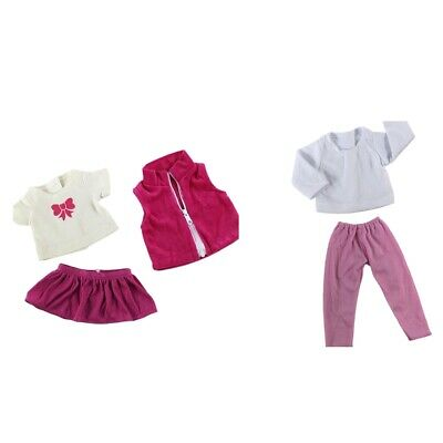 """Fits 18"""" American Girl Dolls Clothes Suit 2 Set Skirt Pants and Top Accs"""