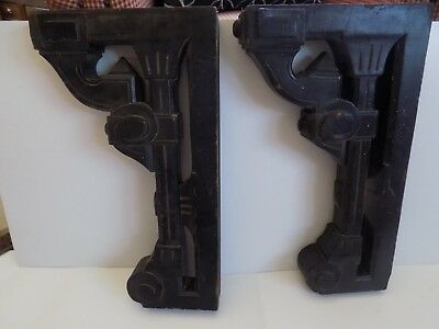 Architectural Salvage Wood Large Carved Wall Mount Corbel Pieces...Set of 2