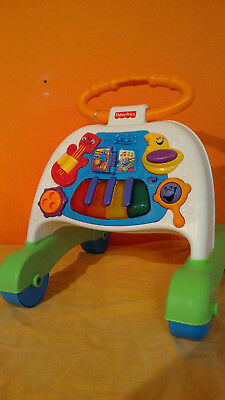 Mattel P2744-0 - Fisher Price 2-in-1 Lauflernwagen