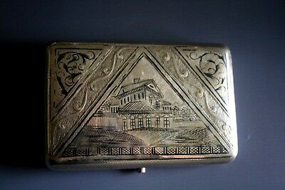 Antique Russian Silver And Niello Cigarette Case - Moscow Circa 1880 +
