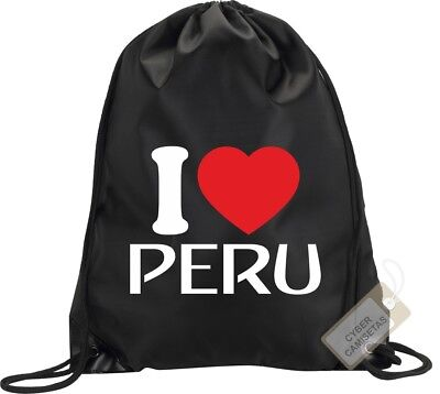 I Love Peru Bolsa Saco Gimnasio Backpack Bag Gym Peru Sport