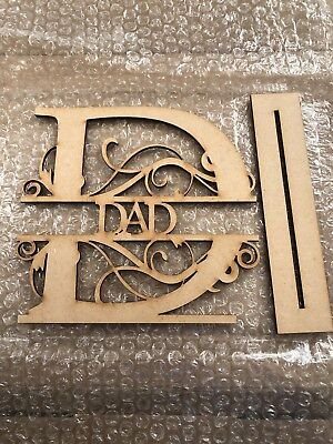 Free Standing MDF DAD Plaque/sign Craft Project