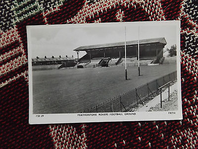 Featherstone Rovers Football Ground - Old B&w Postcard - Frith's Series