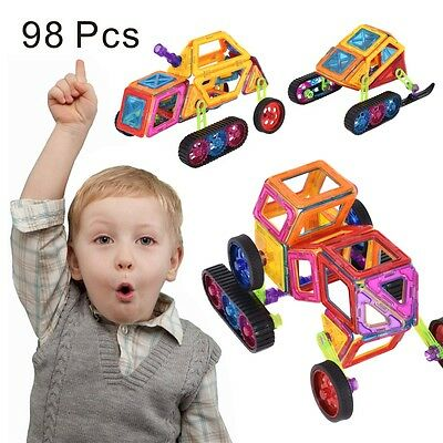 98 pcs Kids Magical Magnetic Construction Building Blocks Toys Birthday Gift US