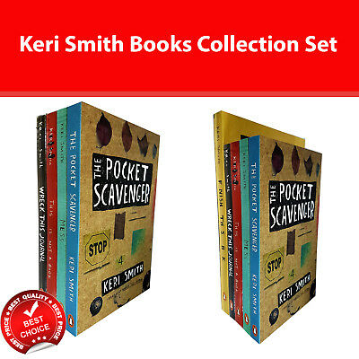 Keri Smith Collection 5 Books Set Wreck This Journal, Mess, This Is Not A Book