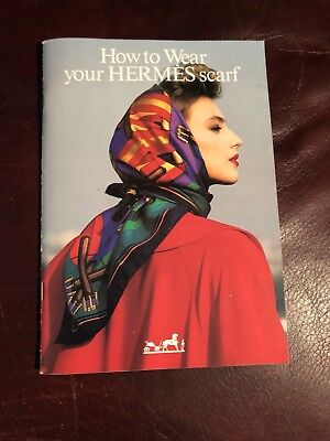 """1986 """"How To Wear Your Hermes Scarf Booklet""""-LIKE NEW - With Order Form/Envelope"""