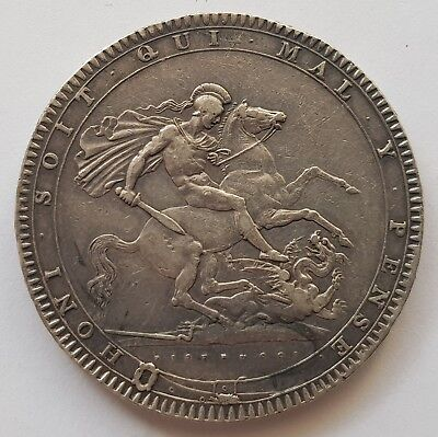 1819 King George III Silver One Crown