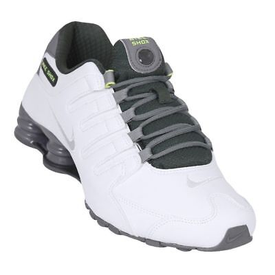 premium selection 40d86 4be16 ... spain mens nike shox nz premium sneakers new white grey grove green  833579 101 sku aa