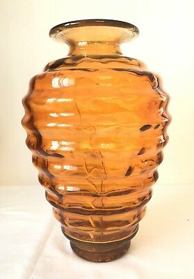 Glas Vase Rund Sammlerstück Made In Spain Hand Decorated