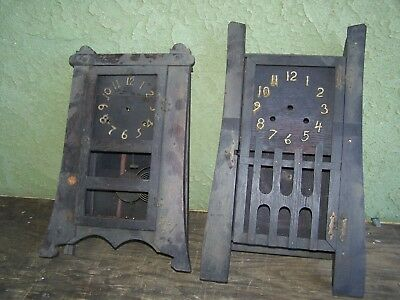 2 Mission / Arts & Crafts clocks - Gilbert & New Haven to restore or for parts.