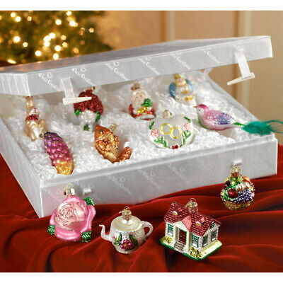 Merck Family's Old World Christmas Bride's Tree Glass Ornament Collection 12 pcs