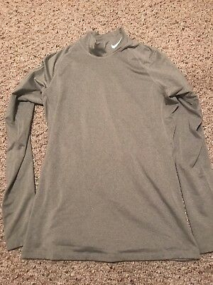 Womens Nike Pro Combat Dri Fit Fitted Long Sleeve Shirt Size Large