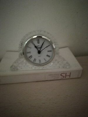 Minature Glass Mantel Clock