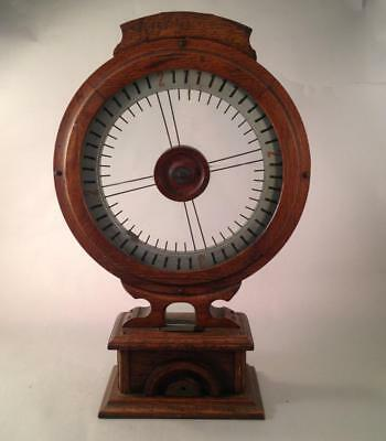 The Fairest Wheel Antique Wood & Glass Penny Coin Op Game