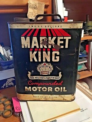 Rare West Point Oil Co Motor Oil -  Two Gallon Can - Empty