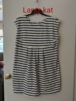Old Navy Blue and White Striped Maternity Dress Size XXL