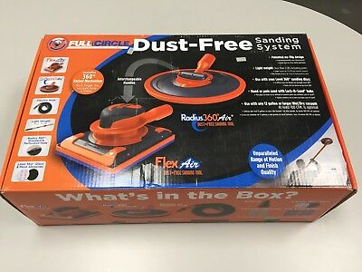 Full Circle AIR Dust-Free Drywall Sanding System - 2 Heads, Pole, Hose, Pads